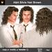 A&A Silvio Hair Brown (curly shoulder length men's hairstyle)