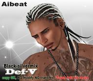 Aibeat *Def-V* black [silver-mix]