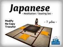 Japanese Meditation /Seating Set [living room furniture, zen, cushion]