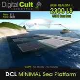 *** DCL Minimal Sea Platform - Perfect as: Access Point, Lounge Area, Events
