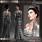 ~JJ~ Mesh Off-Shoulder Gown (DEMO)