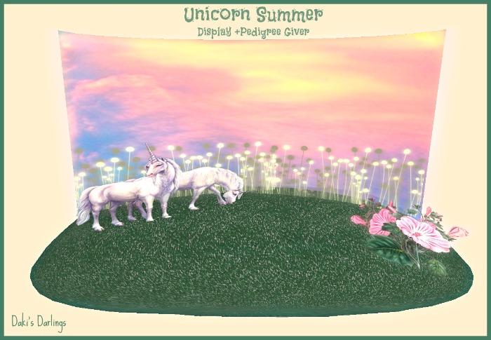 Unicorn Summer Display for KittyCatS! from Daki's Darlings