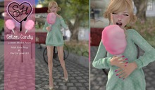 {Sugar Heart} Cotton Candy ~ 5 Static Model Poses + 1 for AO
