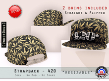 [UnderDogs] - StrapBack Fitted - 420 - Mesh (Straight/Flipped)