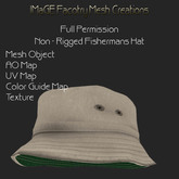 Close Out Sale Fisherman's Hat Full Perm version