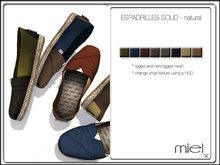 MIEL ESPADRILLES SOLID - natural (MESH)
