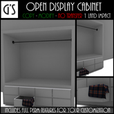 << G's >> Open Display Cabinet - White
