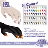 ::Static:: Polished Claws (SL Standard Avatar)