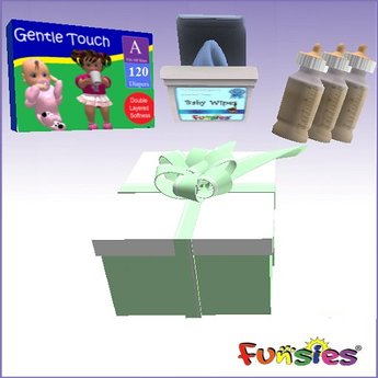 FUNSIES One Month Newborn Kit - Bottles, Diapers & Wipes v4.1