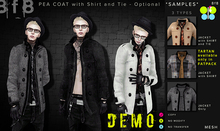 DEMO - Pea Coat with Shirt and Tie
