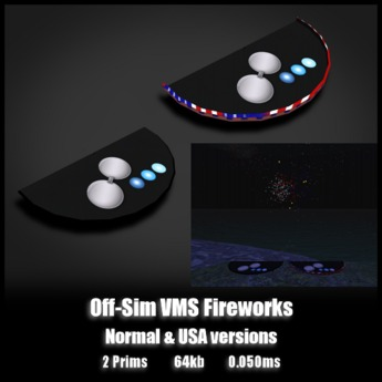 Off Sim VMS FireWorks *0.050ms* Random colors and USA