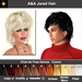 A&A Jared Hair 11 Colors Variety Pack. Unisex fluffy sexy  flexi hairstyle.