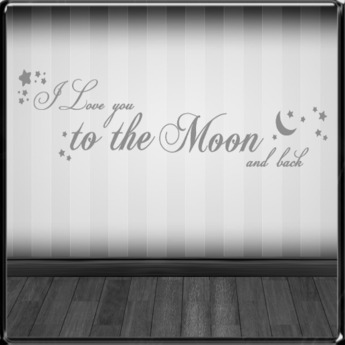 *~LT~* To The Moon Wall Art Decal