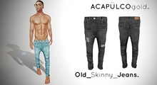 ::theACAPULCOgold.::_Old_Skinny_Jeans  BLACK