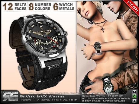 **RE** ReVoX MVX Watch * MESH * Unisex * (*ReVoX Collection*)
