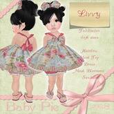 *Baby Pie* Livvy Toddleedoo Girl's Antique Floral & Custom Mesh Complete Dress / Bloomers Outfit! ~MP PROMO PRICE!