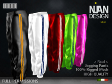 .:Nian Design:. Raul Sport Jogging Pants Rigged Mesh Full Permissions -