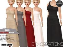 Long Gown Full Perm Mesh Template Kit