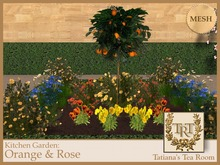TTR-Kitchen Garden-Orange & Rose