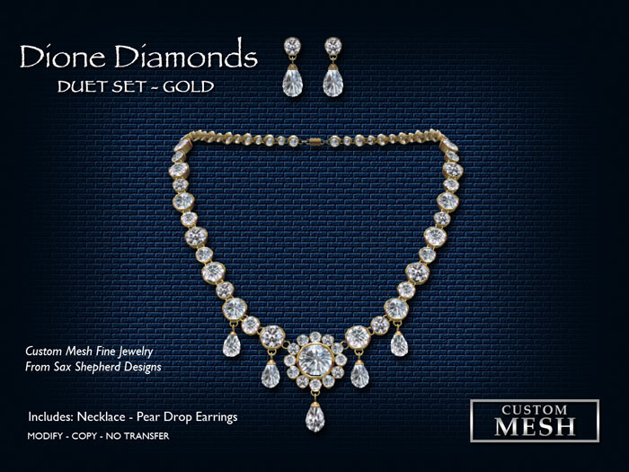 !SSD ~ Frills ~ Dione Gold Diamonds Duet Set