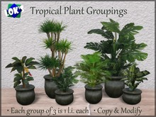 Lok's Tropical Plant Groupings - 1 land impact, 9 colors, 2 styles