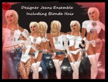 @ ! Bliss Designer Jeans / Shorts / Hair / Tops / lingerie / Lace / Gloves / tatoos & More ! ~ Womens Complete Ensemble