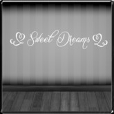 *~LT~* Sweet Dreams {White} Wall Art Decal