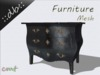 ::db furniture:: Black dresser commode