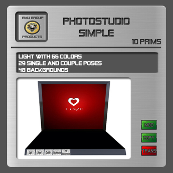EMU Photostudio Simple - 29 Posen, 48 Hintergründe