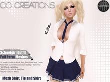 Schoolgirl Outfit Fullperm Mesh Template Kit
