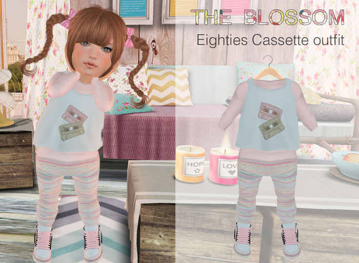 .The Blossom. Eighties Cassette outfit for Toddleedoo avatars only!