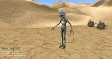Alien Sectoid Soldier - Mesh!  FULL PERMS!  Includes Texture!