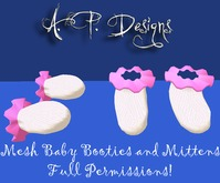 AP Designs Baby Bootie and Mittens MESH Full Permissions