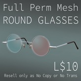 TBF Mesh Full Perm Round Glasses