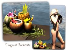 New!!! Tropical Fruit Drinks Dispensor 3 Prims Mesh