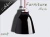 ::db furniture:: Black chrome hanging lamp