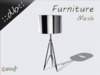 ::db furniture:: silver chrome floor / table lamp