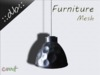 ::db furniture:: silver aluminum hanging lamp