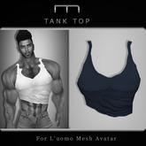 (M) Tank Top - Blue (For L'uomo Mesh Avatar)
