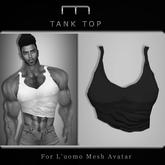 (M) Tank Top - Black (For L'uomo Mesh Avatar)