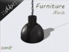 ::db furniture:: black aluminum hanging lamp