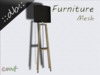 ::db furniture:: wooden floor lamp
