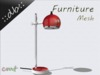 ::db furniture:: desk / floor rouge lamp