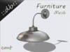 ::db furniture:: silver aluminum wall lamp