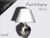 ::db furniture:: smal white/silver table lamp