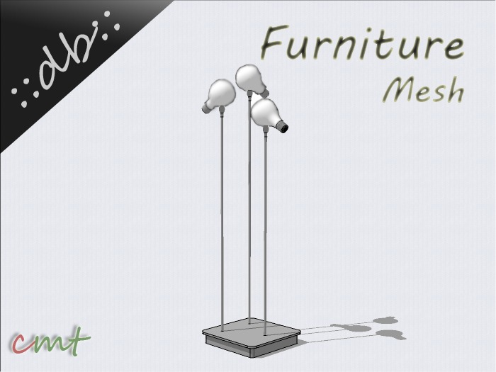 ::db furniture:: white bulb floor lamp