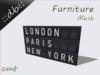 ::db furniture:: Airport sign wall art / wall deco