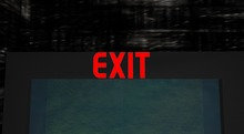 Exit Neon Sign Boxed
