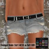 ~Shabby Cat - MESH Damaged Denim Skirt w/belt HUD~