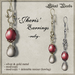 Silent Woods, 'Jheris' Earrings -ruby-